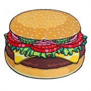 Big Mouth Inc. Strandtuch XXL Hamburger