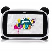 """Tablet GHIA Kids Panda 7"""" Quad Core 1GB 8GB Blanco/Negro Ojos Cafes GTABPNDC"""