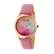Crayo Graffiti Leather-Band Watch - Rose Gold/Light Pink CRACR4005
