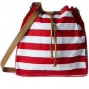 Creative India Exports Women's Red And White Sling Bag Multicolor Sling Bag