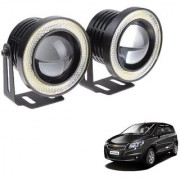 Auto Addict 3.5 High Power Led Projector Fog Light Cob with White Angel Eye Ring 15W Set of 2 For Chevrolet UVA