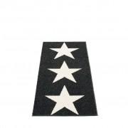 pappelina Viggo One Outdoor-Teppich - schwarz / vanille 70 x 150cm