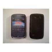 Черен силиконов твърд гръб за BlackBerry 8900