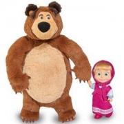 Детски комплект кукла Маша и плюшен мечок Маша и Мечока, Simba, 043248