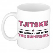 Bellatio Decorations Tjitske The woman, The myth the supergirl cadeau koffie mok / thee beker 300 ml