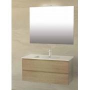 Iotti Meuble de salle de bain Cubo de 100 cm en 5 couleurs - Couleur mobile: Blanc bri