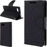 Mercury - Custodia Goospery Fancy Diary Case - Sony Xperia Z5 Compact - Nero