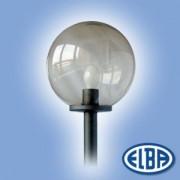 Dekoratív közterületi lámpa GLOBOLUX 1x100W E27 d=400mm PMMA füst búra IP44 Elba