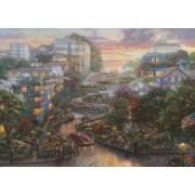Puzzle Schmidt 1000 Thomas Kinkade San Francisco Lombard Street glow in the dark
