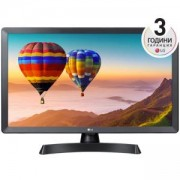 Монитор LG 24TN510S-PZ, 23.6 инча WVA, LED non Glare, Smart webOS 3.5, TV Tuner DVB-T2/C /S2, 1366x768, Wi-Fi, LAN, WiFi, HDMI, CI Slot, USB 2.0, HOTEL MODE, Speaker 2x5W, Черен, 24TN510S-PZ
