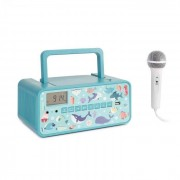 Auna Kidsbox Underwater CD Boombox CD-Player BT UKW USB LED-Display türkis