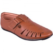 BB LAA 991Tan Men's Roman Sandals