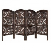 Shilpi Handicrafts Small Size Wooden Room Divider Screen Partition Made in Mango Wood Frame Jali in MDF Panel (4)