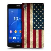 Husa SONY Xperia Z3 Silicon Gel Tpu Model USA Flag