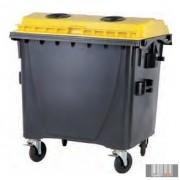 1100 L Műanyag Lapos fedelű Konténer - Szelektív MŰANYAG