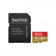 Memoria SanDisk MicroSDHC UHS-I Extreme Action Cam de 32 GB, clase 10, Incluye adaptador SD. SDSQXAF-032G-GN6MA