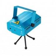 Proiector laser Soundvox TM cu stele miscatoare joc de lumini si MP3 Albastru