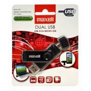 USB памет MAXELL DUAL, USB 2.0, 32GB, Черен ML-USB-DUAL-32GB