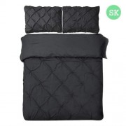 Super King 3-piece Quilt Cover Set Black