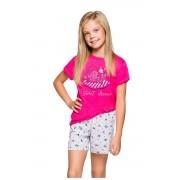 Hannácska lányka pizsama cicás, rózsaszín 128