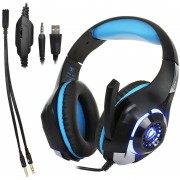 Beexcellent El GM - 1 Stereo Bass Gaming Auriculares Con Cable Con Micrófono Y Luz LED, Para PS4, Smartphone, Tablet, PC, Notebook (azul)