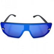 RR Traders Retro Square Sunglasses(Blue)