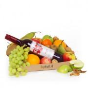 Fruitmand rode wijn