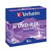 Verbatim DVDplusR 8X Dbl Layer P5 43541