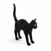 JOBBY THE CAT - Lampa stojąca akumulatorowa Wys.52cm - Czarny