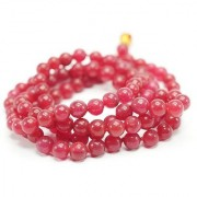 Re-buy Red Hakik (agate) Mala Agate Mala Halik Mala 108 Bead Hand Knotted Mala Necklace Meditation Beads