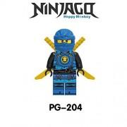Generic Compatible LegoINGlys NinjagoINGlys Sets Ninja Heroes Kai Jay Cole Zane NYA Lloyd with Weapons Action Toys for Children 204