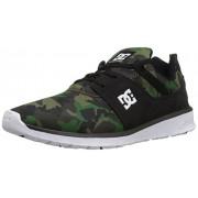 DC Men's Heathrow Se Skateboarding Shoe, Black/Camo, 6 D US