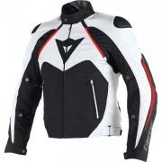 Dainese Motorradschutzjacke, Motorradjacke Dainese Hawker D-Dry Textiljacke schwarz/weiß 56 weiß