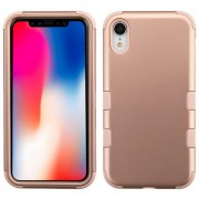 Funda Case Iphone XR Doble protector Uso Rudo Tuff - Rose