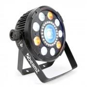 Beamz BX94 PAR 9x 6W 4 en 1 RGBW LEDs unidad estroboscópica con 24 SMD-LEDs manual a distancia (Sky-150.740)