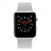 Apple Watch Series 3 - caja de aluminio en plata 42mm - correa deportiva niebla gris (GPS+Cellular) refurbished