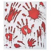 Merkloos Horror raamstickers bloedende handafdrukken