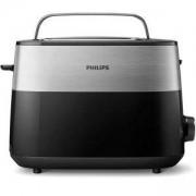 Тостер Philips HD2516/90, Daily Collection, 8 настройки, Компактен дизайн, стойка за претопляне, Черен