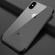 Funda Galvanizado Y Transparente Para IPhone 7/8 Plus - Negro