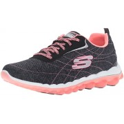 Skechers Sport Women s Skech Air 2.0 Modern Edge Fashion Sneaker Black/Pink 9 B(M) US