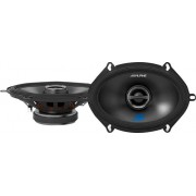 "Alpine - 5"" x 7"" 2-Way Car Speakers with Carbon Fiber Reinforced Plastic Cones (Pair) - Black"
