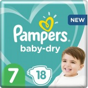 Pampers Baby-Dry - Maat 7 (15kg+) - 18 Luiers