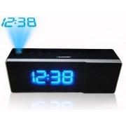 Ébresztőórás rádió nagy LCD kijelzővel, időkivetítéssel, fekete, CRP8BK