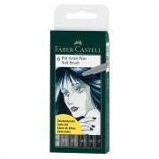 Pitt Artist Pen Soft Brush set 6 Buc. Faber-Castell