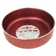 Тава за печене Sapir SP 1222 AL30, 30 см, Мраморно покритие, Червена