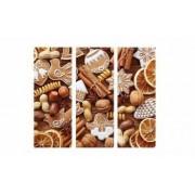 Set Tablouri Multicanvas 3 Piese Fructe Diverse - 150 x 70 cm