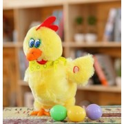 New Creative 30cm Funny Doll Chickens lay eggs of Chicken Raw chickens crazy singing & dance pet plush toys