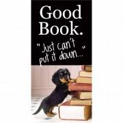 magnetische boekenlegger: good book - just can not put it down - hond