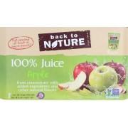 Back To Nature Juice - Apple - Case of 5 - 6 Fl oz.