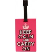 Tootpado Luggage Tag Keep Calm And Carry On - Pink (1i493) - Bag Travel Tags Luggage Tag(Multicolor)